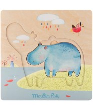 MOULIN ROTY Puzzle warstwowe Hippo